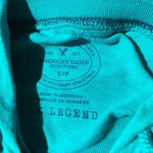 AEO legend light hoodie green small